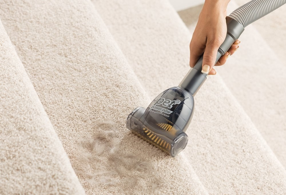 Use A Rubber Broom To Sweep Up Pet Hair From Your Carpets And Furniture